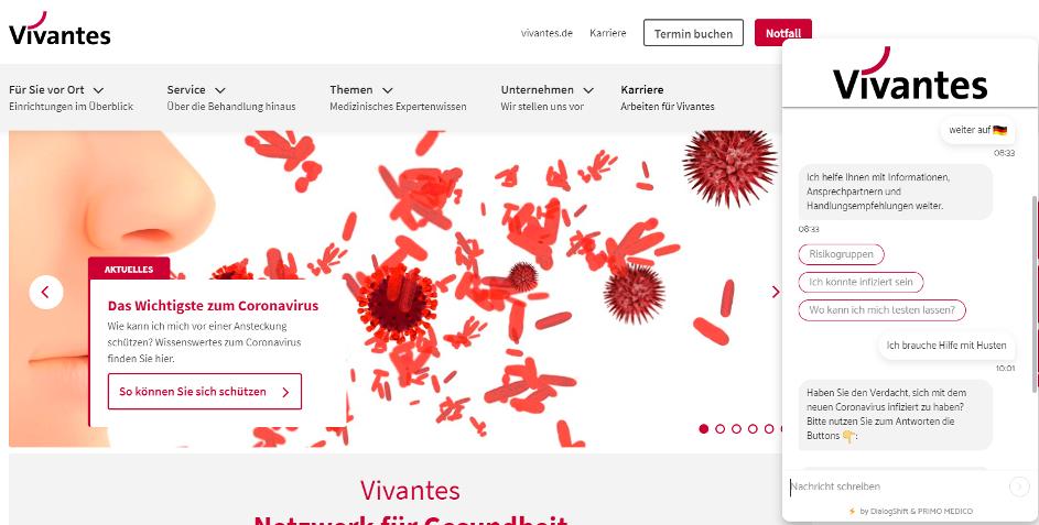 Coronavirus-Bot für Kliniken