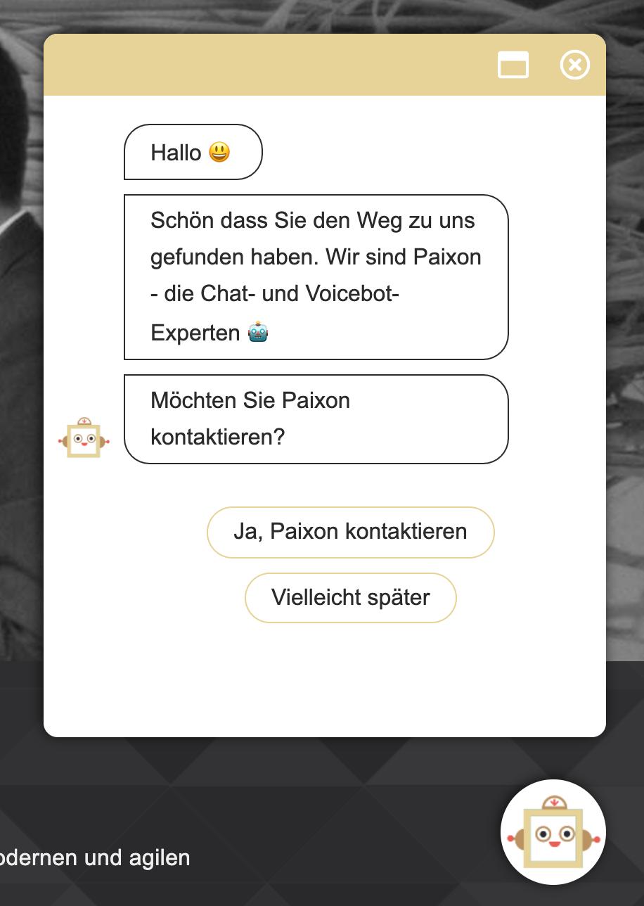 Der Paixon Website Chatbot