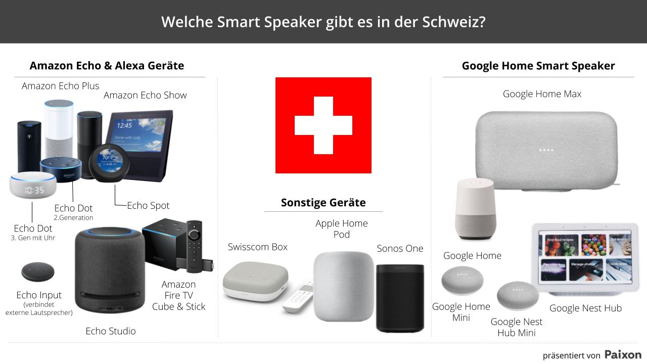 Welche Smart Speaker gibt es in der Schweiz
