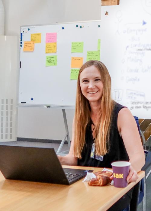 Nina Habicht protokolliert beim SAK-Workshop